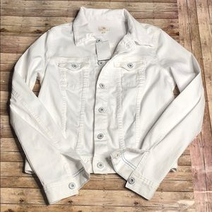 NWT AG White Denim Jacket